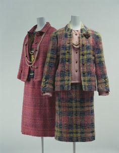 1968 Chanel Suits- developed from her cardigan suit in the 1920s, the Chanel suit was copied all over the world in the 1960s.it is considered as women's basic model in the 20th century and in the 21st century as well.