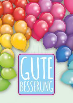 Besserungs-Ballons | Gute Besserung | Echte Postkarten online versenden | MyPostcard.com