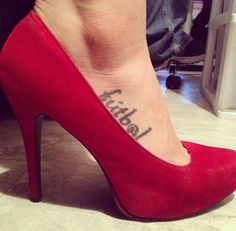 Soccer girl. My futbol tattoo. Soccer love in heels. For all the girls who love soccer and can rock cleats just as good as pumps.: