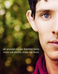 Aw :( I love when Merlin is paired w/ song lyrics