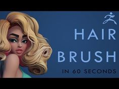 (45) How to make a HAIR BRUSH in Zbrush - 60 Second Tutorial - YouTube