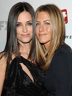 Monica and Rachel on FRIENDS played by Jennifer Aniston and Courtney Cox