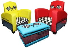 Love these chairs. This site has lots of cars bedroom decor