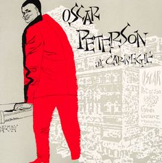 Album cover by David Stone Martin (1913-1992), 1952, Oscar Peterson at Carnegie.