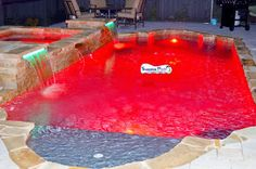 Superior Pools Pent-air Glo Brites with color Changing waterfalls