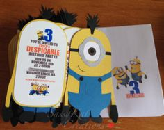 despicable me themed birthday invatations | Popular items for Despicable Me Invite on Etsy