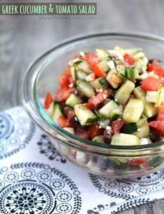 Greek Cucumber & Tomato Salad from www.thisgalcooks.com wm2 @yulissa junco