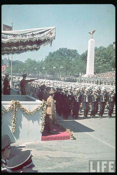 Kriegsmarine Parade in Color LIFE Image