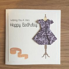 Origami Dress Mannequin Birthday/Mother's Day/Women Card