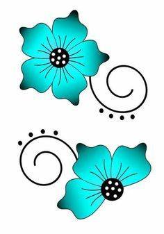 Applique Patterns, Flower Patterns, Flower Designs, Bd Art, Flower Doodles, Beading Projects, Stencil Designs, Fabric Painting, Rock Art