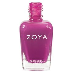 Audrina: Medium pink and purple cream polish. Zoya Nail Polish has the hottest shades for all seasons and skin types, they're also the longest wearing lacquer formulation in the world today! You will