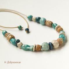 Handmade ceramic beads by Natalia Dobr
