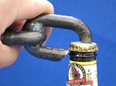 Welded Chain Bottle Opener by MetalCreated on Etsy Key Bottle Opener, Beer Opener, Metal Projects, Welding Projects, Art Of Manliness, Forging Metal, Scrap Metal Art, Antique Tools, Metal Shop
