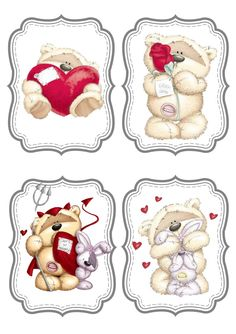 Tatty Teddy, Christmas Gift Tags, Christmas Crafts, Fun Photo, Fizzy Moon, Diy And Crafts, Paper Crafts, Theme Noel, 3d Cards