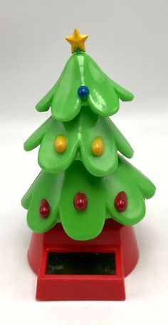 solar powered dancing christmas tree animated bobble swing new - Solar Powered Christmas Tree