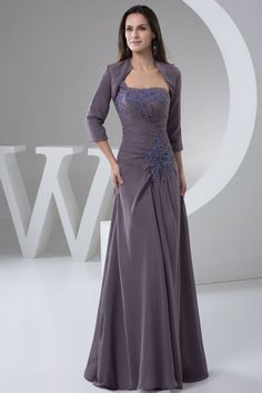 With A Wrap Asymmetric Waist Long A-line Zipper One Shoulder Mother Of The Bride Dress
