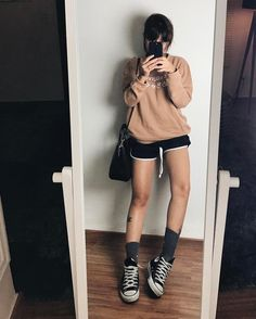 All Star Outfit, Girl Outfits, Fashion Outfits, Fashion Tips, Fashion Beauty, Girl Fashion, Style Me, Ideias Fashion, Casual