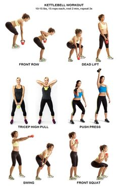 Kettlebell ExerciseWhat is Kettlebell Exercise? The kettlebell is not a new thing and it has been around for quite some time. Fitness Workouts, Kettlebell Workout Routines, Kettlebell Workouts For Women, Kettlebell Cardio, At Home Workouts, Fitness Tips, Kettlebell Challenge, Kettlebell Benefits, Upper Body Kettlebell Workout