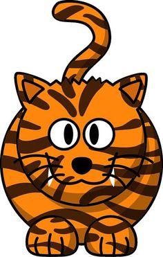 Cartoon Tiger by mmathieu - A tiger based on a leopard Cartoon Tiger, Baby Cartoon, Cartoon Pics, Cartoon Jungle Animals, Cat Urine, Cool Cartoons, Cartoon Wallpaper, Mammals, Clip Art