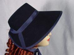 Navy Blue Ladies Civil War//Victorian Day Cap for Dress