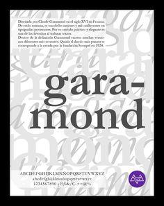 Afiche tipográfico by MininaGráfica #typo #garamond