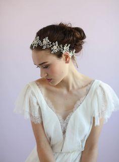 bridal hair vine - Lush beaded blossom and crystal hair vine - Style 627 - Ready to Ship