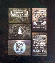 Typographic travel postcards