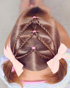 17 Trendy Kids Hairstyles You Have to Try-Out on Your Kids, HAİR STYLE, Elastic Chevron into Pigtails! This style is incredibly easy to do and is a great 2 day style too! Click above to see instructions on how to do this s. Easy Toddler Hairstyles, Girly Hairstyles, Easy Hairstyles For Long Hair, Gorgeous Hairstyles, Easy Little Girl Hairstyles, Teenage Hairstyles, Hairstyles For Toddlers, Toddler Hair Dos, Ladies Hairstyles