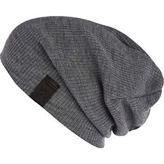 GREY SLOUCHY BEANIE HAT River Island: i've never known how to wear these... but i like them.