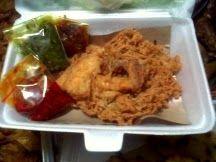 kedai BEBEK BENYEK : Ayam penyet telor khas kedai bebek benyek