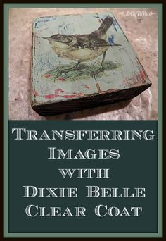 Image Transfer to wood With Dixie Belle clear coat. Who knew this was possible? Decoupage Furniture, Chalk Paint Furniture, Repurposed Furniture, Decoupage Tins, Decoupage Ideas, Wood Transfer, Photo Transfer, Transfer Images To Wood, Transfer Printing