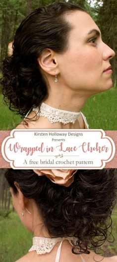 Add a touch of class and elegance to your wedding with this lacy choker. The Victorian/vintage feel makes this crochet DIY pattern a true heirloom quality piece. Find the pattern for free on my site, and make this necklace in as little as one evening!