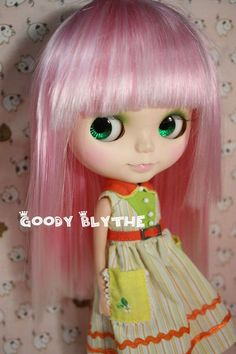 pink and white wig for Blythe