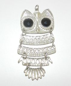 Vintage 1970's Owl Pendant by JeweledLuv on Etsy, $19.99
