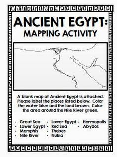 All About Ancient Egypt Ancient Egypt Worksheets And Social Studies - Map of egypt for primary school
