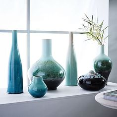 Reactive Glaze Vases - Green #westelm