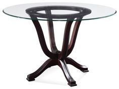 Transitional Dining Tables Houzz With 42 Round Glass Dining Table Plan