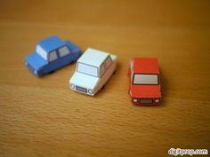 Sandbox Car Paper Toy