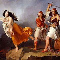 Date of #painting: 1833 #National Gallery of Modern #Art, #Rome. Data e pikturës: #1833 Galeria #Kombetare e Artit Modern, #Romë. Albanian Culture, Ancient Greece, Woman Painting, Traditional Outfits, Mythology, Rome, Wonder Woman, Costumes, Superhero