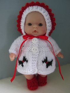 Hand Knitted Outfit for 5 Berenguer Doll