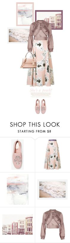 """""""She's a peach"""" by aleks-g ❤ liked on Polyvore featuring Roksanda, Pottery Barn, River Island and Lazy Days"""