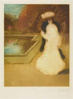 Femme dans un parc by Louis Abel-Truchet