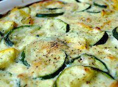 Feta & Parmesan Zucchini Bake Recipe