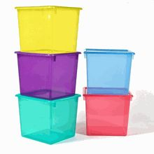 Large Colored Plastic Storage Containers @organizeddot Com