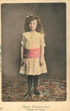"Princess Elisabeth ""Ella"" (Elisabeth Marie Alice Viktoria) (11 Mar 1895-16 Nov 1903) Hesse by unknown photographer colorized by unknown. Ella was 1st child of Ernest Louis V ""Ernie"" (1868-1937) Hesse & Princess Victoria Melita ""Ducky"" (1876-1936) UK."