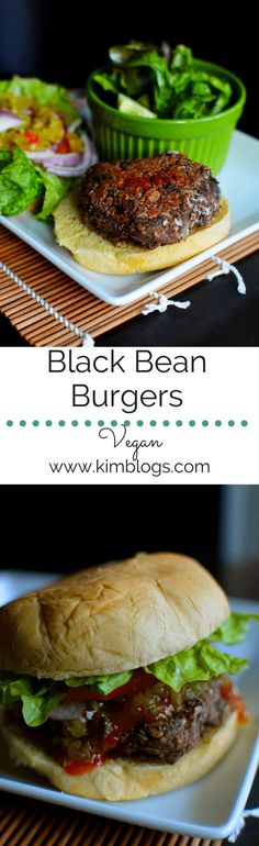 Vegan black bean burgers- Yummy, and super easy to make with a little spice. - Kim blogs