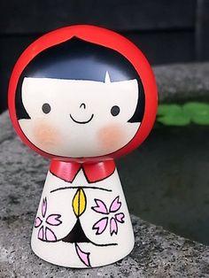 Modern & Kawaii Japanese Kokeshi Doll こけし
