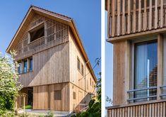 #Architektur #Holzbau #Zürich Oberland #Einfamilienhaus Cabin, House Styles, Outdoor Decor, Home Decor, New Construction, Detached House, Architecture, Cabins, Cottage