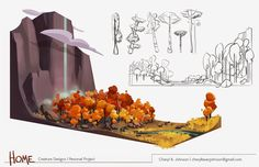Cheryl B. Johnson's Portfolio: Backgrounds and Color Bg Design, Prop Design, Animation Background, Art Background, Character Design Animation, Aesthetic Drawing, Environment Concept Art, Environmental Design, Visual Development