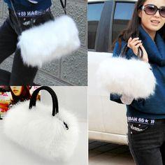 White Women Pretty Cute Faux Rabbit Fur Handbag Shoulder Messenger Bag Tote FREE SHIPPING  http://ift.tt/2u48b4W #wheelddeal #dealoftheday #latest #trending #buynow